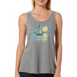 Life Is Good Womens Happy Hour Sailboat Tank Top