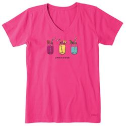 Life Is Good Womens Refreshing Jars T-Shirt