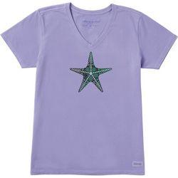 Life Is Good Womens Primal Starfish Crusher V-Neck