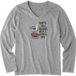 Life Is Good Womens Seagull Crusher Long Sleeve T-Shirt