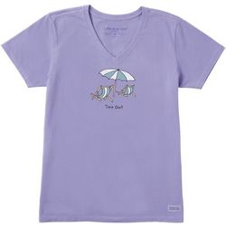 Life Is Good Time Out V-Neck Crusher T-Shirt