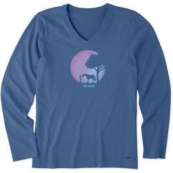 Life Is Good Womens Celestial Horses Long Sleeve T-Shirt