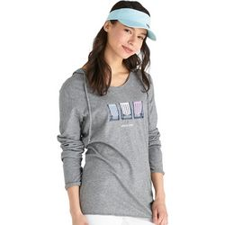 Life Is Good Womens Smooth Tee Beach Chair Stripe Hooded Top
