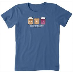 Life Is Good Womens Keep It Simple PB&J Crusher T-Shirt