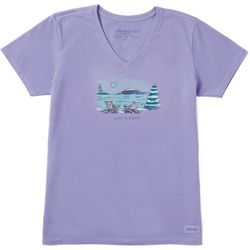 Life Is Good Womens Lovely Wintery Day Crusher T-Shirt