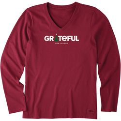 Life Is Good Womens Greatful Crusher Long Sleeve T-Shirt