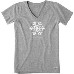 Life Is Good Womens Snowflake Crusher T-Shirt