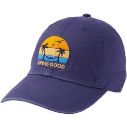 Life Is Good Womens Hibiscus Embroidered Sunwashed Chill Cap