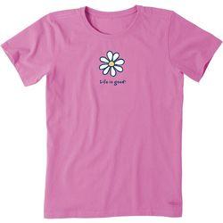Life Is Good Womens Daisy Crusher T-Shirt
