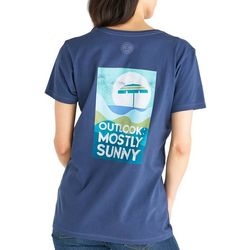 Life Is Good Womens Sunny Umbrella Crusher V-Neck T-Shirt