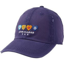 Life Is Good Womens 365 Sunwashed Baseball Hat
