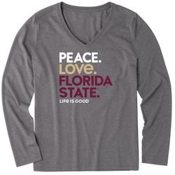 Florida State Womens Peace Love T-Shirt By Life Is Good