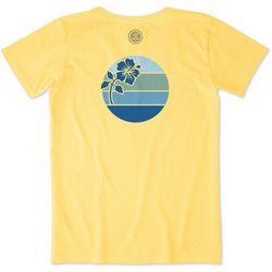 Life Is Good Womens Hibiscus Sun Crusher T-Shirt