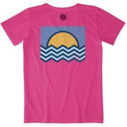 Life Is Good Womens Ocean Angles Crusher T-Shirt