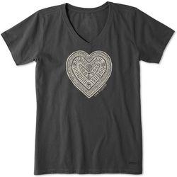 Life Is Good Womens Primal Heart Crusher T-Shirt