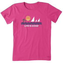 Life Is Good Womens Minimalist Beach Crusher T-Shirt