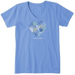 Life Is Good Womens Sandal Heart Crusher T-Shirt