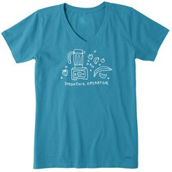 Life Is Good Womens Smoothie Operator Crusher T-Shirt
