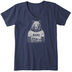 Life Is Good Womens Mama Bear Crusher T-Shirt
