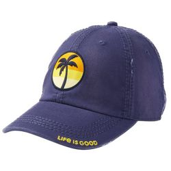 Life Is Good Womens Sunset Palm Patch Sunwashed Chill Cap