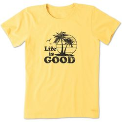Life Is Good Womens Vintage Palms Crusher T-Shirt
