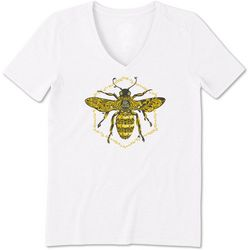 Life Is Good Womens Bee Cool Graphic T-Shirt