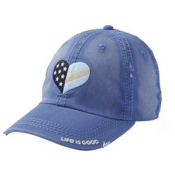 Life Is Good Womens Flag Heart Sunwashed Chill Baseball Hat
