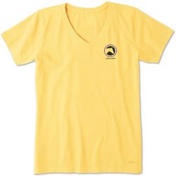 Life Is Good Womens Horse Coin Crusher V-Neck T-Shirt