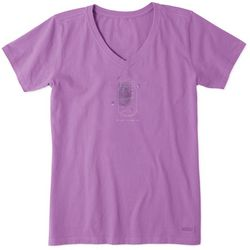 Life Is Good Womens Fireflies Shine On Crusher T-Shirt