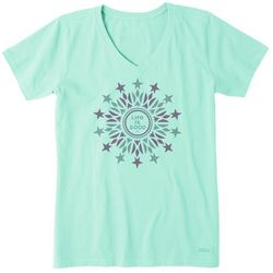 Life Is Good Womens Primal Stars Crusher T-Shirt