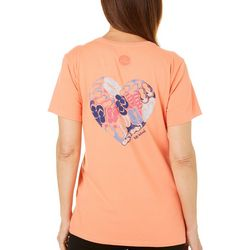 Life Is Good Womens Flip Flop Heart Crusher T-Shirt