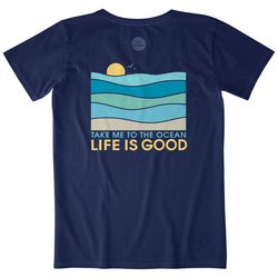 Life Is Good Womens Take Me To The Ocean Crusher LIG T-Shirt