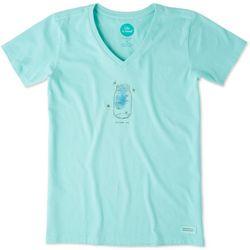 Life Is Good Womens Fireflies Crusher T-Shirt