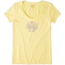 Life Is Good Womens Be Kind Lotus Smooth T-Shirt