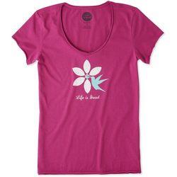 Life Is Good Womens Hummingbird Smooth T-Shirt
