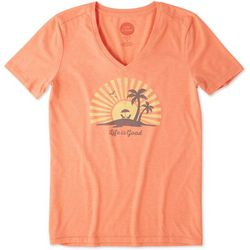 Life Is Good Womens Sunset Chill Cool T-Shirt
