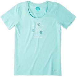 Life Is Good Womens Positive Energy Butterflies T-Shirt