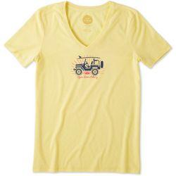 Life Is Good Womens Open Door Policy Cool T-Shirt