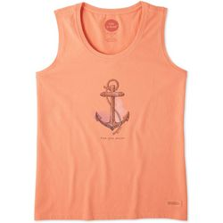 Life Is Good Womens Find Your Anchor Crusher Tank Top