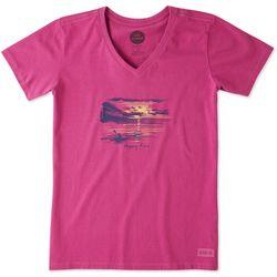 Life Is Good Womens Happy Hour Kayak Crusher T-Shirt