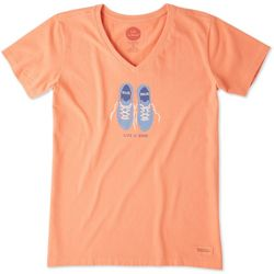 Life Is Good Womens Miles & Smiles Crusher T-Shirt