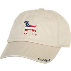 Life Is Good Womens Tattered Chill Dog Flag Cap
