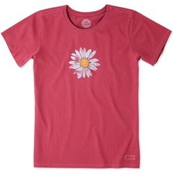 Life Is Good Womens Big Daisy Crusher T-Shirt