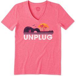 Life Is Good Womens Unplug Beach T-Shirt