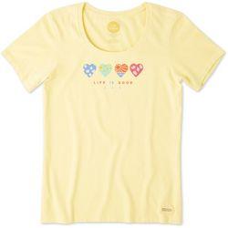 Life Is Good Womens 365 Heart Crusher T-Shirt