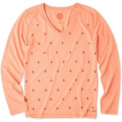 Life Is Good Womens Lady Bug Galore Long Sleeve Top
