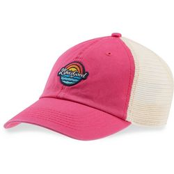 Life Is Good Womens Pink Patch Soft Mesh Baseball Hat