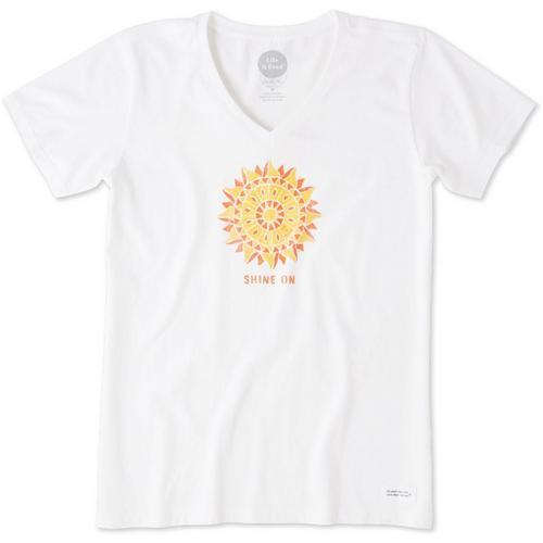 0d533e21e53 Life Is Good Womens Shine On Crusher T-Shirt