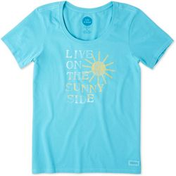Life Is Good Womens Live On The Sunny Side Crusher T-Shirt