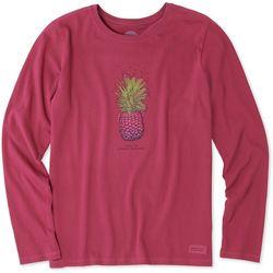 Life Is Good Womens Pineapple Love Long Sleeve Top
